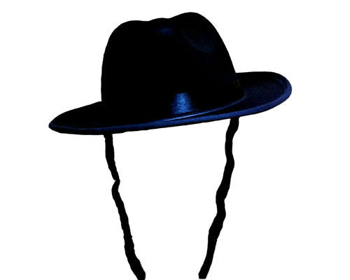 Black Fedora With Side Locks