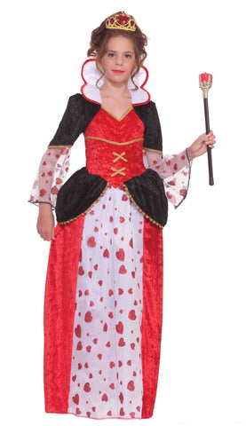 Queen of Hearts Designer Costume for Little Girls - HalloweenCostumes4U.com - Kids Costumes