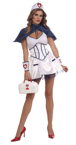 Womens Nurse Costume Blue Nurse Outfit - HalloweenCostumes4U.com - Adult Costumes