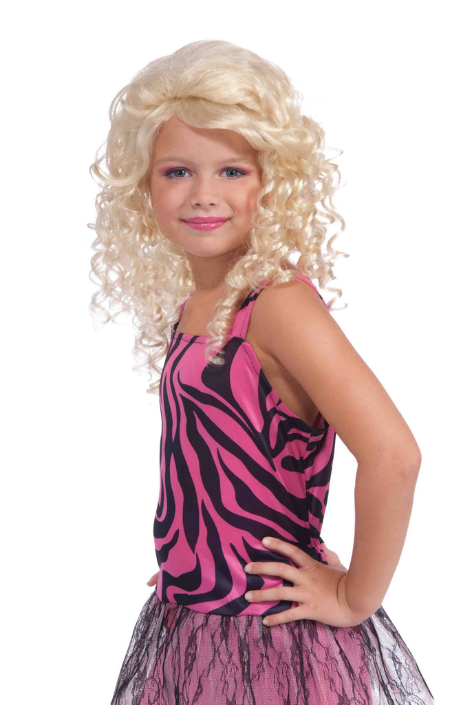 Wig-Child 80's Pop Star-Blonde - HalloweenCostumes4U.com - Accessories