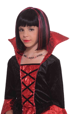 Girls Vampire Princess Wig - HalloweenCostumes4U.com - Accessories