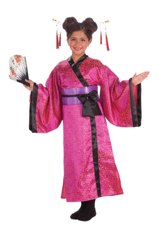 Geisha Costume Child Asian Geisha Costume - HalloweenCostumes4U.com - Kids Costumes