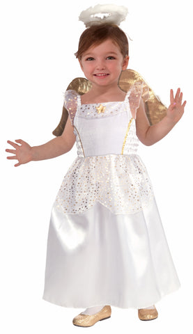 Girls Angelic Angel Costume - HalloweenCostumes4U.com - Kids Costumes