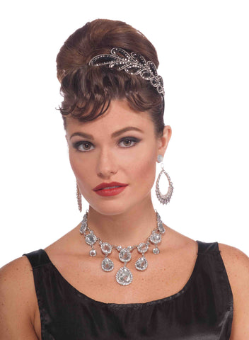 Vint.Hol.Diamond Necklace - HalloweenCostumes4U.com - Accessories