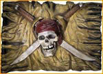 Pirate Jolly Roger Wall Plaque - HalloweenCostumes4U.com - Decorations