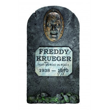Nightmare on Elm Street Freddy Krueger Tombstone Decoration - HalloweenCostumes4U.com - Decorations