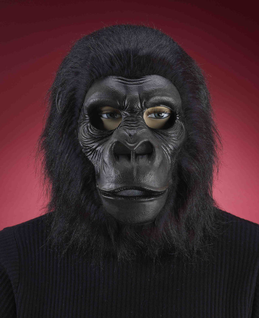 Mask-Gorilla-Black - HalloweenCostumes4U.com - Accessories