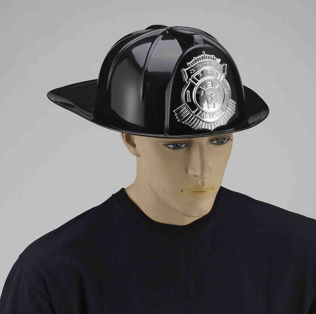 Deluxe Fireman Helmets Black Adult - HalloweenCostumes4U.com - Accessories