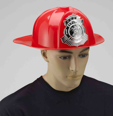Deluxe Fireman Helmets Red Adult - HalloweenCostumes4U.com - Accessories
