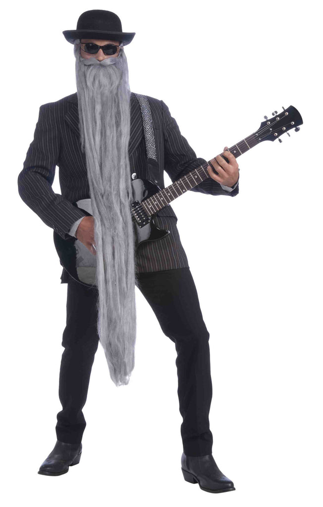 Extra Long Costume Beard Grey - HalloweenCostumes4U.com - Accessories