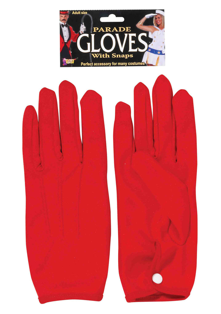 Parade Costume Gloves Short Red - HalloweenCostumes4U.com - Accessories