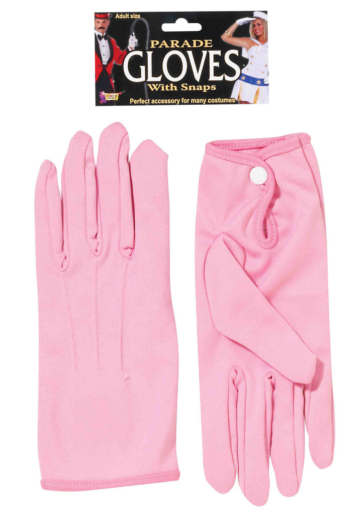 Parade Costume Gloves Short Pink - HalloweenCostumes4U.com - Accessories
