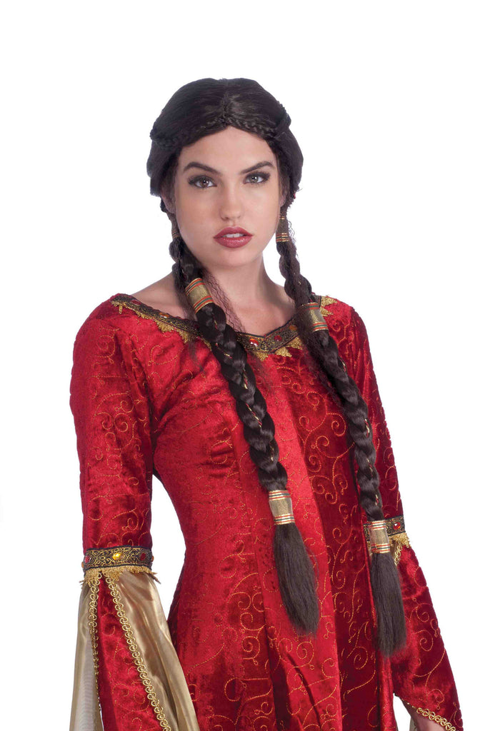 Medieval Maid Long Braids Wig - HalloweenCostumes4U.com - Accessories