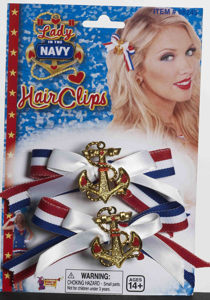 Lady In The Navy Hairbow Set - HalloweenCostumes4U.com - Accessories