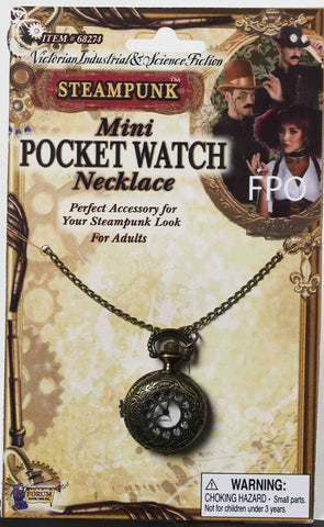 Steampunk Pocket Watch Necklac - HalloweenCostumes4U.com - Accessories