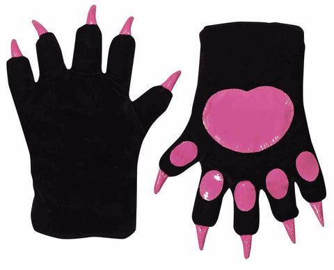 Black Cat Paw Gloves - HalloweenCostumes4U.com - Accessories