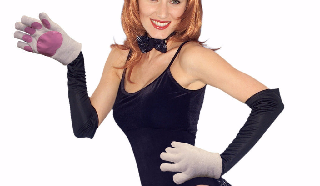 Bunny Paw Gloves - HalloweenCostumes4U.com - Accessories