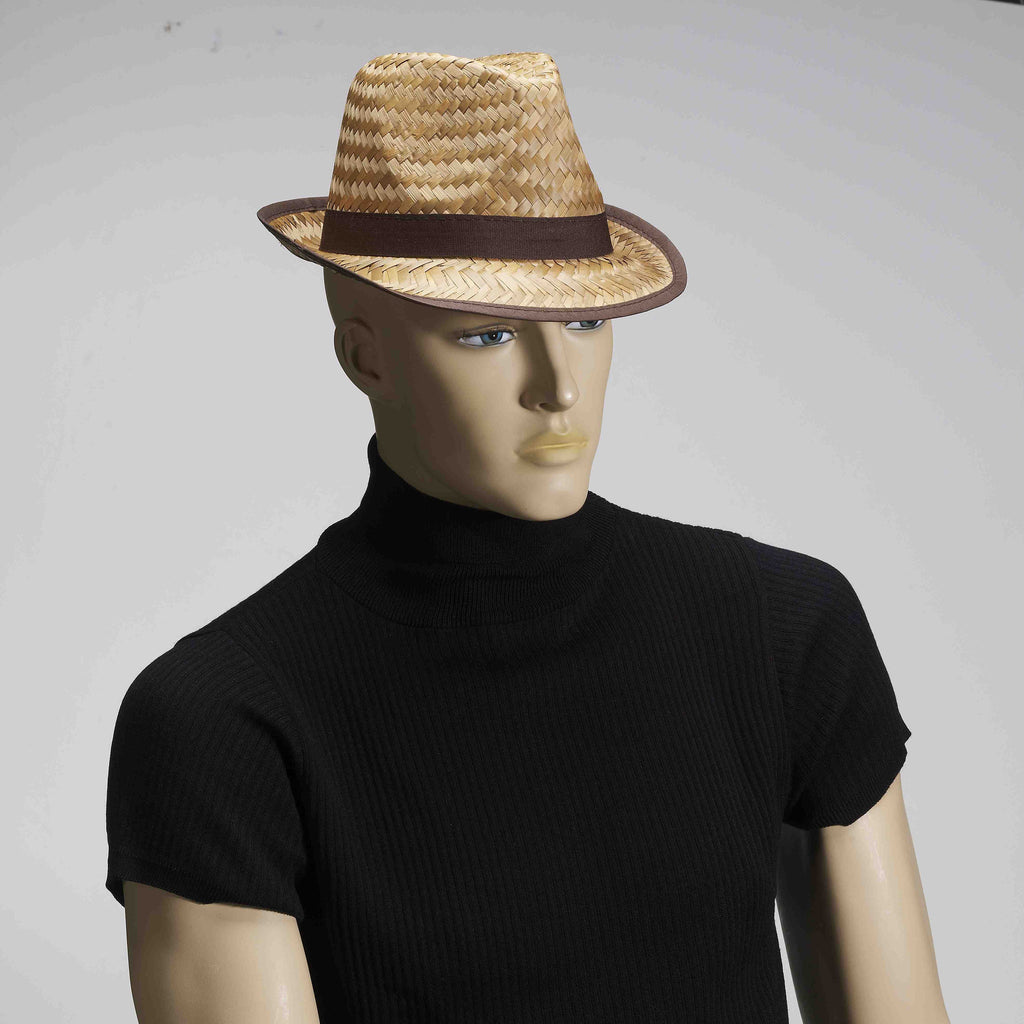 Straw Fedora Hat - HalloweenCostumes4U.com - Accessories