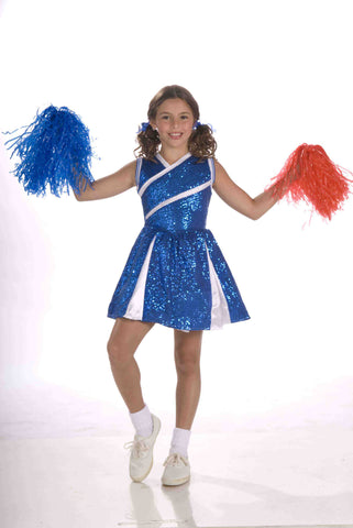 Girls Glitzy Cheerleader Costume - HalloweenCostumes4U.com - Kids Costumes