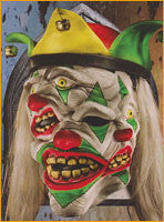 Happy Go Psycho Clown Mask - HalloweenCostumes4U.com - Accessories