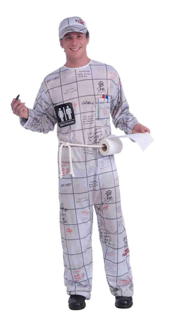 Mens Bathroom Wall Guy Costume - HalloweenCostumes4U.com - Adult Costumes