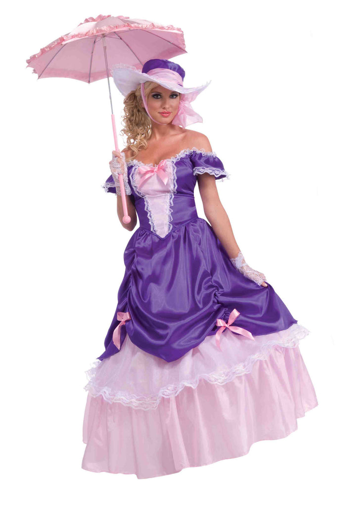 Women's Southern Bell Costume Purple/Pink - HalloweenCostumes4U.com - Adult Costumes