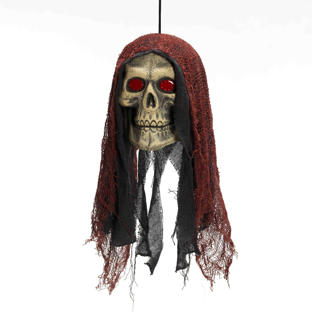 Hanging Skull with Blinking Eyes - HalloweenCostumes4U.com - Decorations
