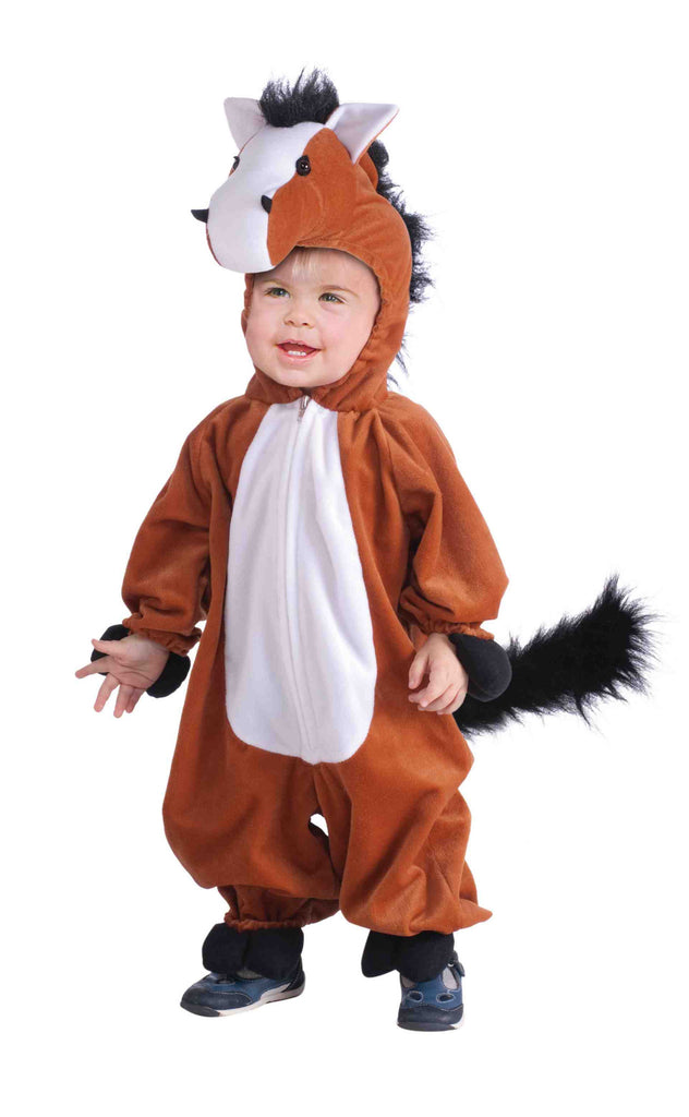 Horse Costume Cuddly Plush Child Horse Jumpsuit - HalloweenCostumes4U.com - Kids Costumes