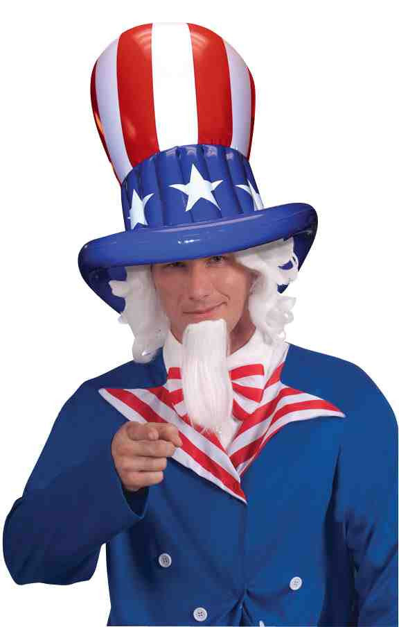 Patriotic American Inflatable Top Hats
