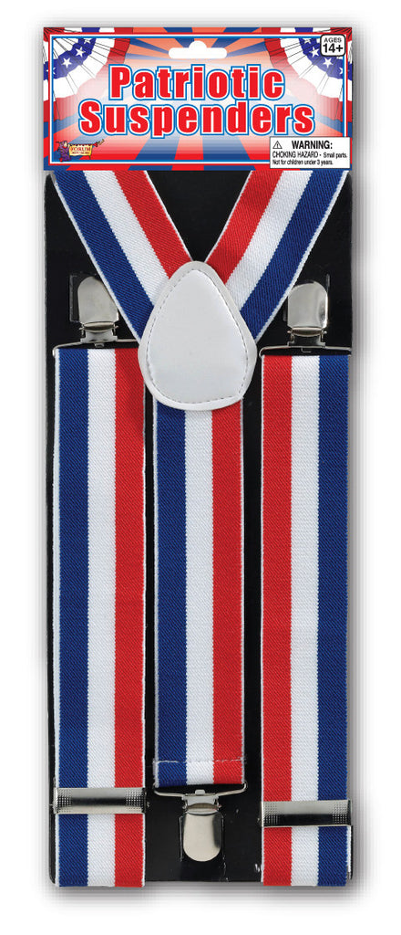 US Patriot Costume Suspenders - HalloweenCostumes4U.com - Accessories