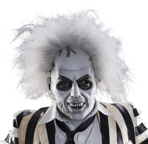 Deluxe Beetlejuice Mask with Hair - HalloweenCostumes4U.com - Accessories