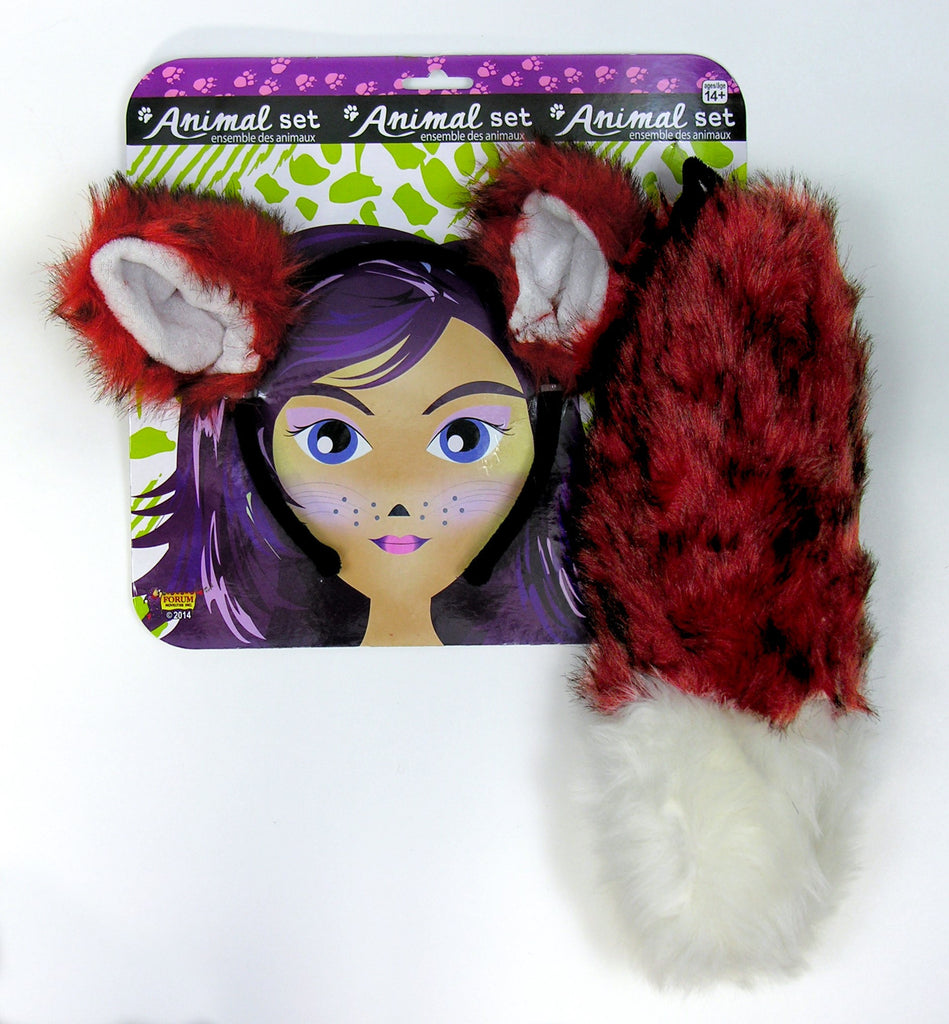 Lady Fox Plush Tail and Ears Set - HalloweenCostumes4U.com - Accessories