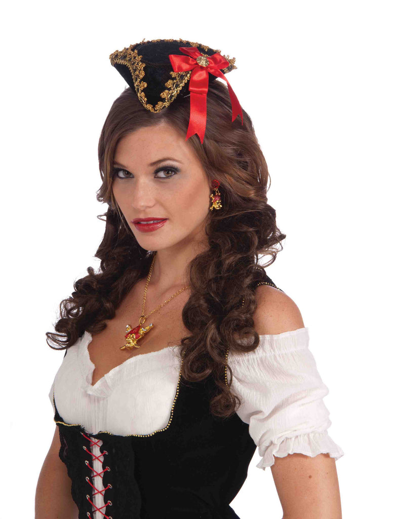 Mini Pirate Beauty Costume Hat - HalloweenCostumes4U.com - Accessories