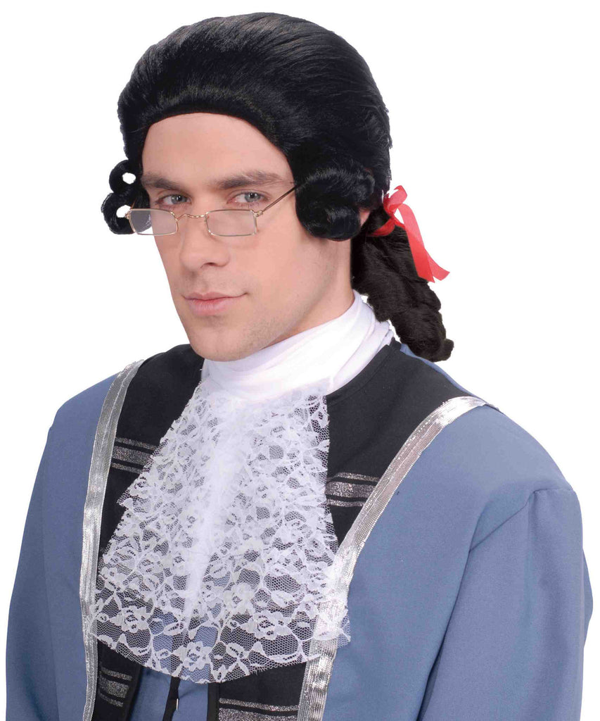 Wig-Men's Colonial-Black - HalloweenCostumes4U.com - Accessories