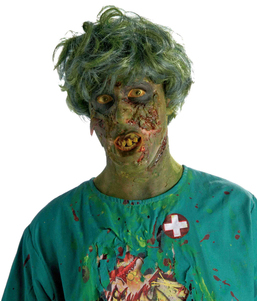 Guys Zombie Costume Wig Short Curly - HalloweenCostumes4U.com - Accessories