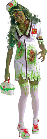 Zombie Woman Biohazard Zombie Nurse Costume - HalloweenCostumes4U.com - Adult Costumes