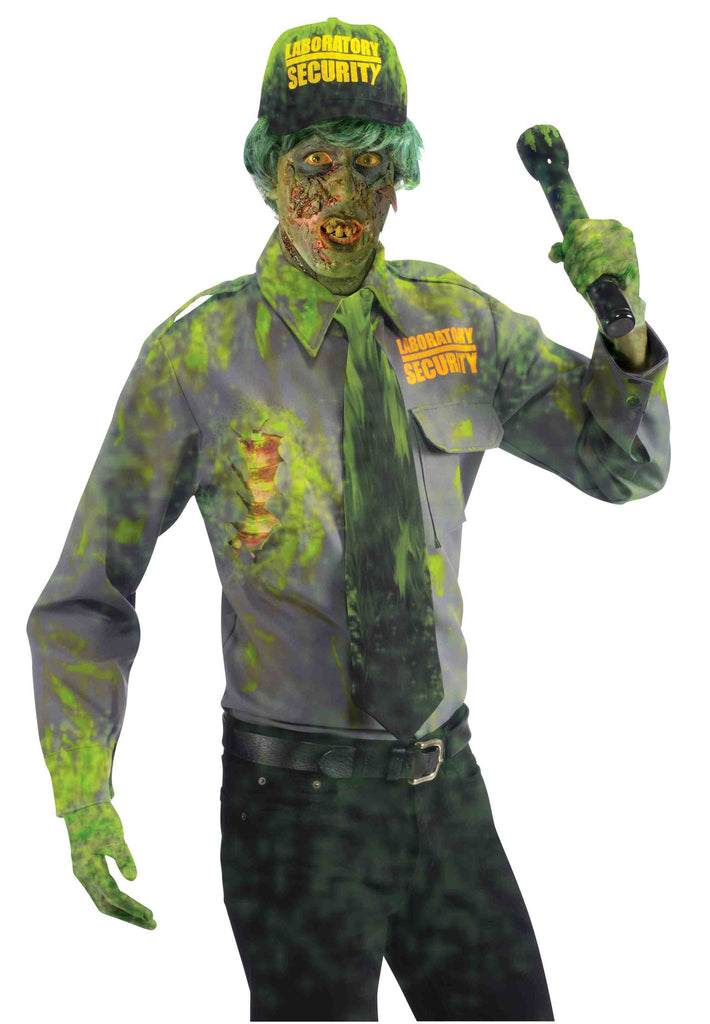 Mens Biohazard Zombie Security Guard Costume - HalloweenCostumes4U.com - Adult Costumes
