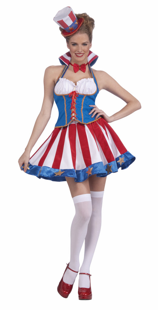 Pretty Stars and Stripe Lady Patriot Costume - HalloweenCostumes4U.com - Holidays
