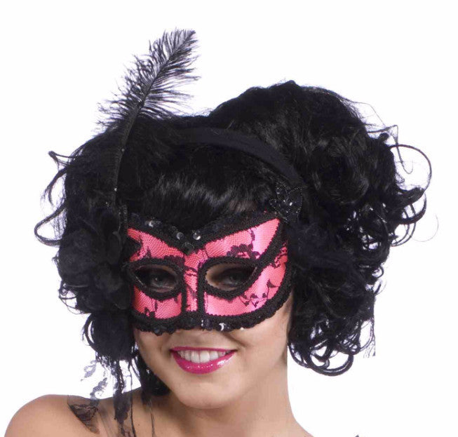 Burlesque Half Mask - HalloweenCostumes4U.com - Accessories