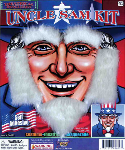 Deluxe Uncle Sam Facial Hair - HalloweenCostumes4U.com - Accessories