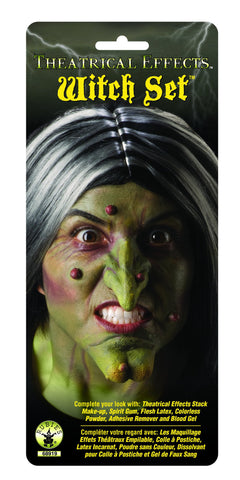 Theatrical Effects Witch Nose and Chin Kit - HalloweenCostumes4U.com - Accessories