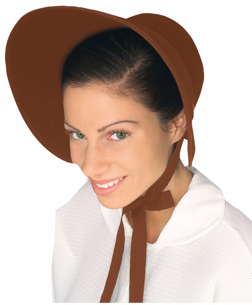 Pilgrim Woman Costume Bonnet Brown - HalloweenCostumes4U.com - Accessories