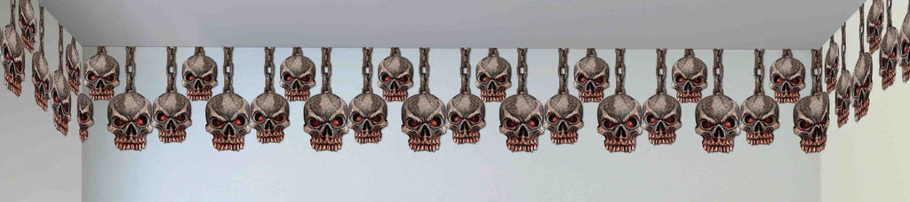 Dung.Decor Hang.Skulls Border - HalloweenCostumes4U.com - Accessories