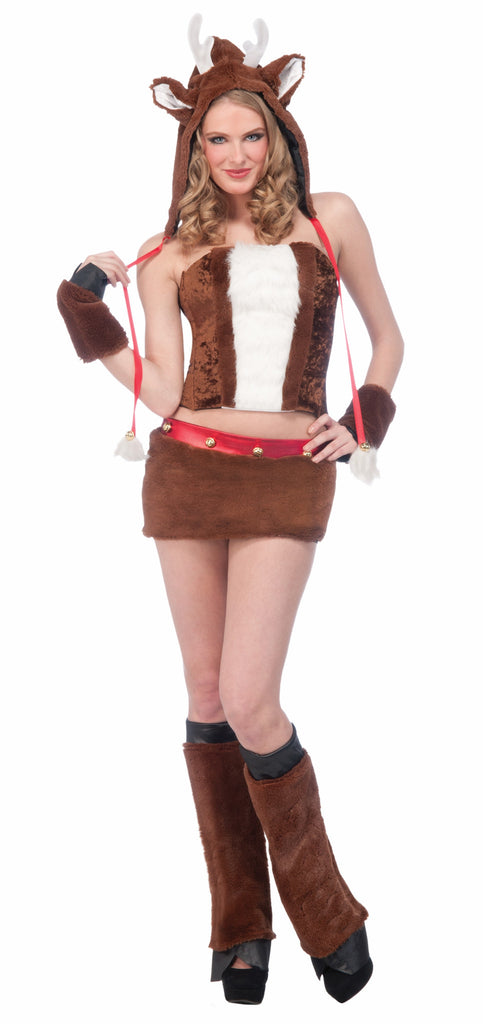 Women's Sexy Reindeer Animal Halloween Costumes - HalloweenCostumes4U.com - Holidays