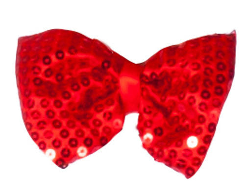 Sequined Bow Tie - Various Colors - HalloweenCostumes4U.com - Accessories - 3