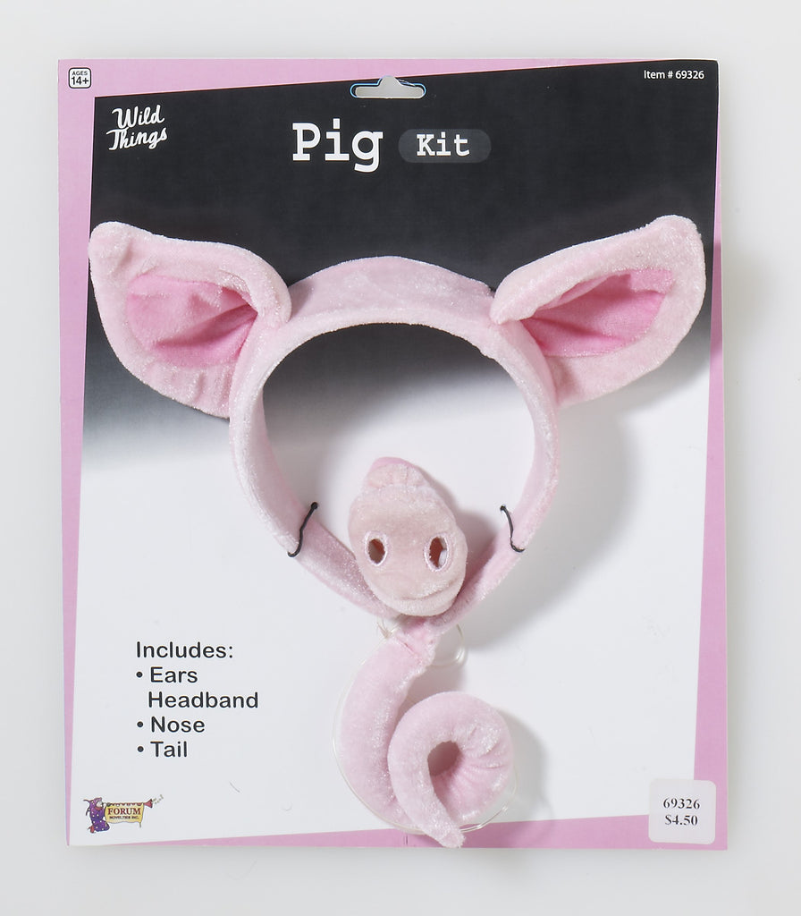 Pig Kit Ears Nose and Tail - HalloweenCostumes4U.com - Accessories