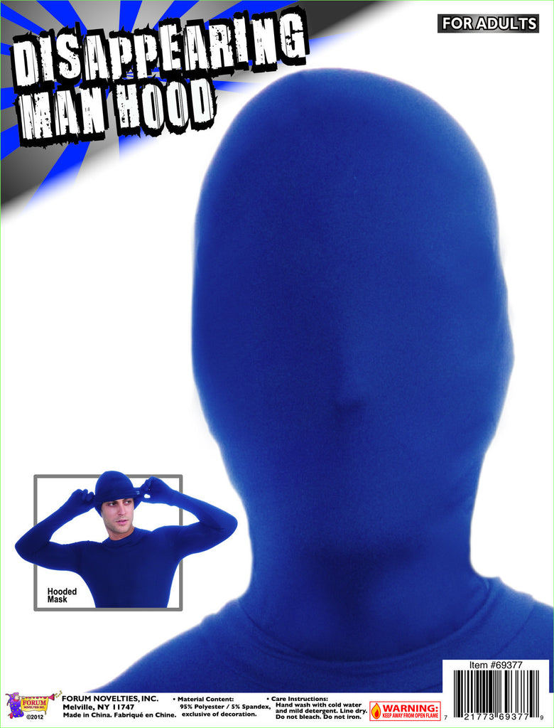 Disappearing Man Hood-Blue - HalloweenCostumes4U.com - Accessories