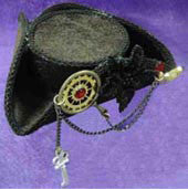 Mini Steampunk Pirate Hat - HalloweenCostumes4U.com - Accessories