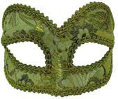 Venetian Masquerade Mask Green - HalloweenCostumes4U.com - Accessories