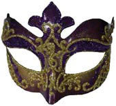 Venetian Eyemask Purple/Gold - HalloweenCostumes4U.com - Accessories
